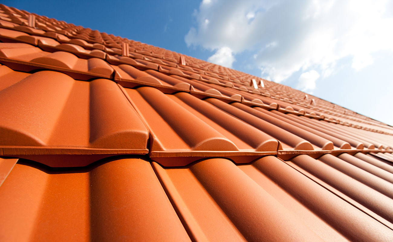 new clay tiled roof